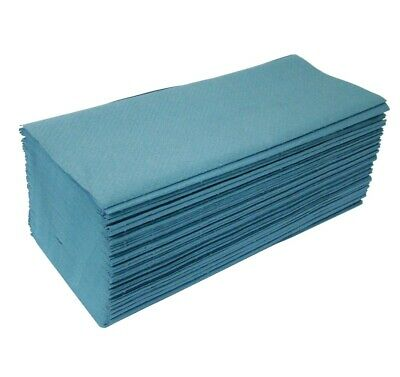 X-Large Blue Heavyweight Interleaved Paper Hand Towels Case of 3600 Washing Wipe