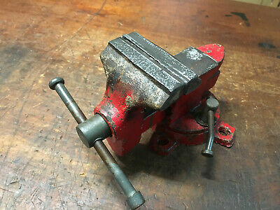 Vintage Swivel Bench Vice 3 Jaw Rear Anvil & Pipe Jaw in Made in Japan