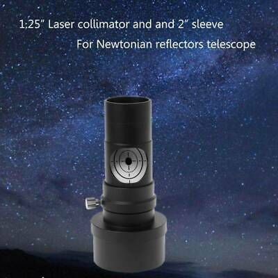 """1.25"""" Laser Collimator 2"""" Sleeve Adapter For Reflector Telescope 7 Bright Level"""