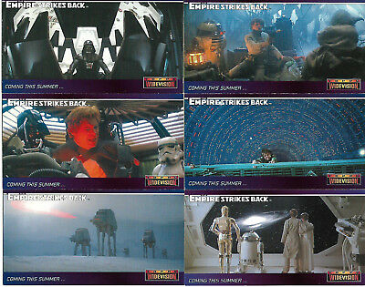 The Empire Strikes Back Widevision 7 Rare Promo Card Set - TOPPS 1995 -