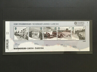 GB 2019 Autumn STAMPEX D-DAY * LIMITED EDITION OVERPRINT * 7,500 ISSUED