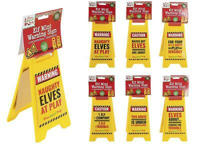 6 Pack Elf Slogan A Frame Warning Sign Props On The Shelf Ideas Toy Christmas