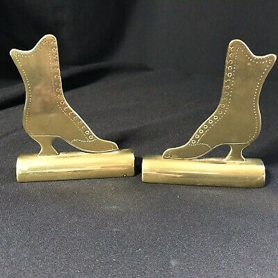 Antique Brass Victorian Boot Form Fireside Ornaments
