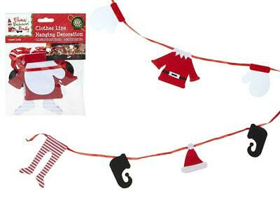 175Cm Elf Clothes Line Bunting Props On The Shelf Ideas Toy Christmas