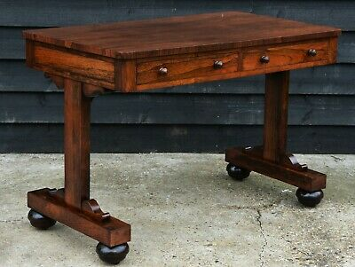 Superb Quality Antique Early 19th Century Regency Rosewood Library Table/ Desk.