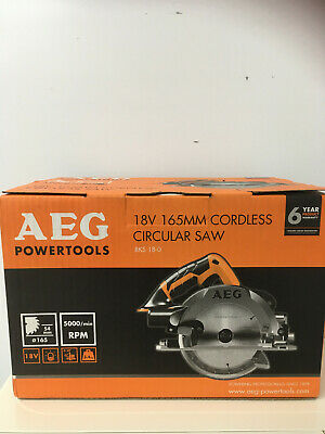 New AEG 18V 165mm Cordless Circular Saw