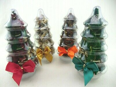 4 X Christmas Tree Gift Pack , Quality Hand Made British Pot Pouri, 4 Fragrances