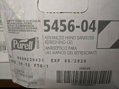 Purell Advanced Hand Sanitizer Gel Refill 4-1200ML