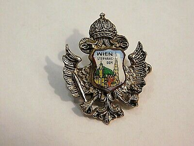 Vintage German Bavarian Octoberfest Hat Pin Brooch - WIEN