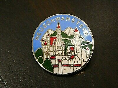 Vintage German Bavarian Octoberfest Hat Pin Brooch - NEUSCHWANSTEIN