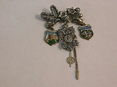 Vintage German Bavarian Octoberfest Hat Pin Brooch - NEUSCHWASTEIN