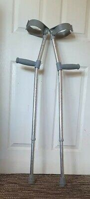 One Pair Trulife Crutches  X-Long Adult 80.5 - 109 cms 25 st. Double Adjustable