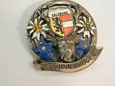 Vintage German Bavarian Octoberfest Hat Pin Brooch -  SALZBURG STUBNERKOGEL