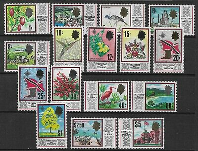 TRINIDAD & TOBAGO 1969 Definitive New Currency Set to $5 Mint MNH Birds Flowers