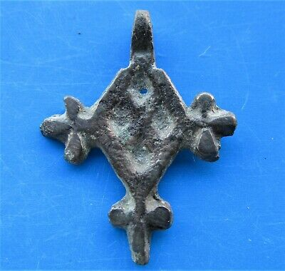 Ancient Viking Bronze Cross Pendant RARE!!!!