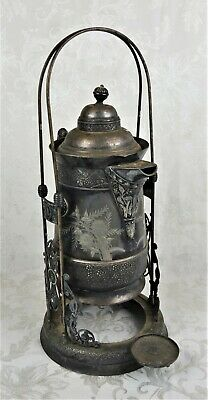 Antique Victorian Aesthetic Acme Quadruple Silverplate Water Pitcher on Stand