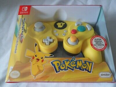 Official Nintendo Switch Pokemon Wired Fight Pad Pro Pikachu Unused