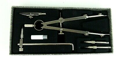 Vtg Essel Drawing Instrument Set of Drafting Tools w/Compass
