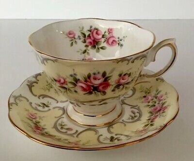 Royal Albert Rose Du Barry Series COLLETTE Cup & Saucer YELLOW