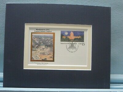 The United States Capitol  and First day Cover of its own stamp