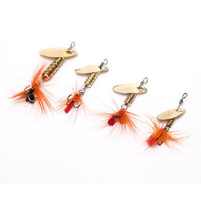 Sequin Spoon Fishing Lures Metal Spinner Feather Crankbait 2G 3G 4G Tackle WG