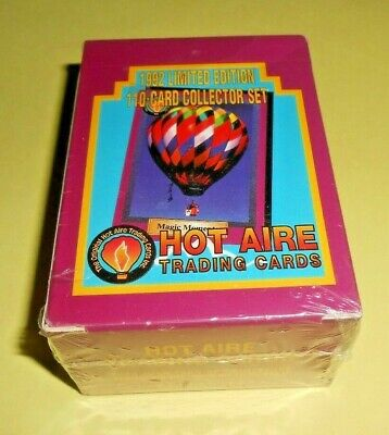 Hot Aire Trading Cards 1992 Limited Edition 110 Card Collector Set New Sealed