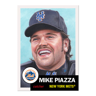 2019 Topps Living Set 235 Mike Piazza New York Mets Retro 1953 Style