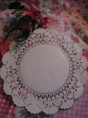 """4"""" Inch White Gold Silver Lace Paper Doily Round Ship Free 10 100 200 250 Pcs"""