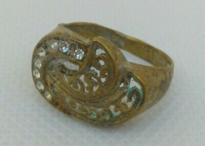 Rare Extremely Ancient Old Ring Bronze Legionary Roman Ring Bronze Rare Type