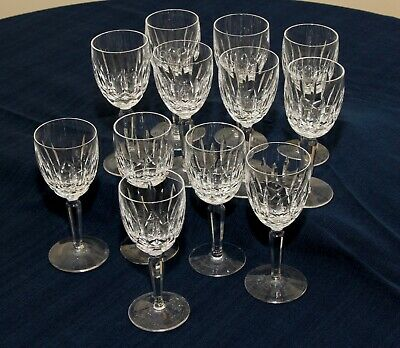 "12 WATERFORD Crystal KILDARE Pattern Claret Goblets  6.5""...WOW!!!"