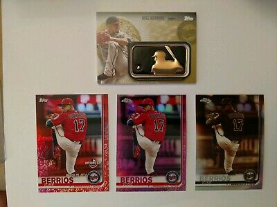 2019 Topps Chrome Jose berrios Pink Sepia Gold Relic /50 150th Red Foil Twins