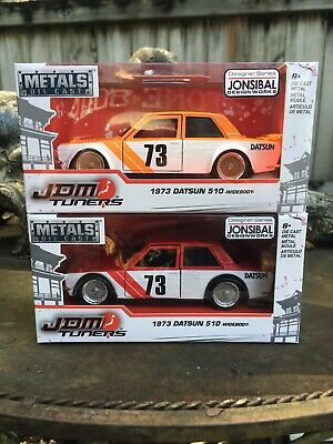 1973 Datsun 510 Widebody JDM Tuners Rot Weiß Red White 1:32 Jada Toys 99123