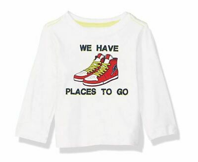 Crazy 8 Boys' Toddler Li'l Long-Sleeve Graphic Tee, Sneakers, 4T