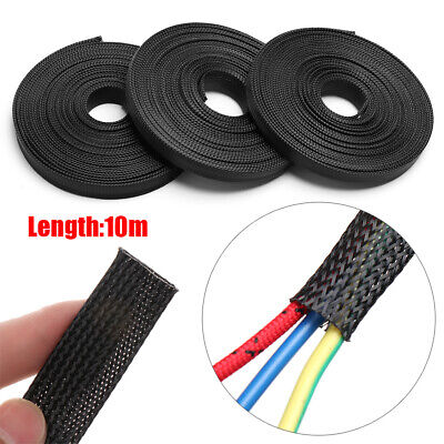 Wrap Insulated Nylon Cord Protector Braided Sleeve Storage Pipe Cable Organizer