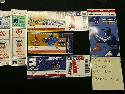 MLB Cardinals Ticket Stubs Pujols Molina McGuire Edmunds HR WS ASG LOT 100+!!!!!