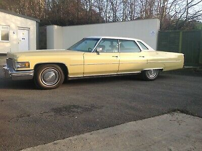Cadillac Sedan DeVille 1975 in Bombay Yellow lovely condition 46,700 miles