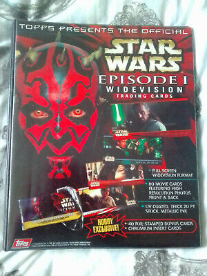 Star Wars Episode 1 & 2 Widevision Near Complete Master Set Topps - 1999
