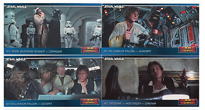 Star Wars ANH Widevision Promo Card Set K-01 to K-04 KENNER 1995