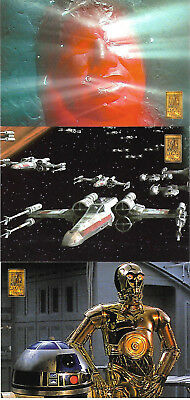 Star Wars Trilogy Collection Movie 3 Case P1 - P3 Topper Card Set Merlin - 1997