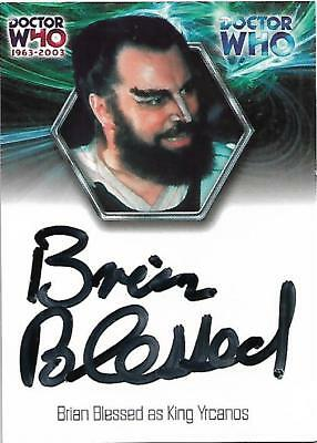 Doctor Who : 40th Anniversary Exclusive Album Autograph Card B1 Brian Blessed