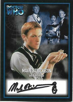 Doctor Who - Series Two Autograph Card AU10 Mark Strickson - Turlough