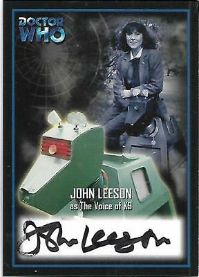 Doctor Who - Series Two Autograph Card AU9 John Leeson - The Voice of K-9