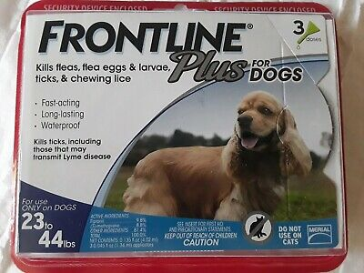 Frontline Plus - Flea & Tick Treatment - Medium Dogs (23-44) 3_Doses - NEW