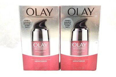 2 Olay Regenerist Micro-Sculpting Serum Advanced Anti-Aging 1.7 oz Each