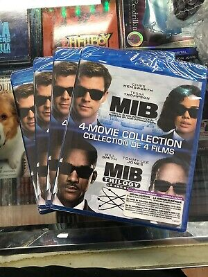 MIB / MEN IN BLACK 4 MOVIE COLLECTION  BLU RAY + DIGITAL- Brand NEW! Fast Ship!