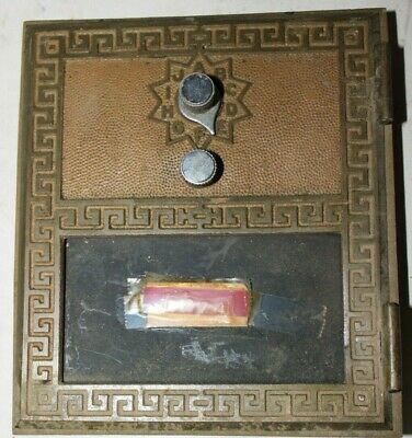 Vintage Bronze/Brass Post Office box doors 4 medium Grecian doors     5 a