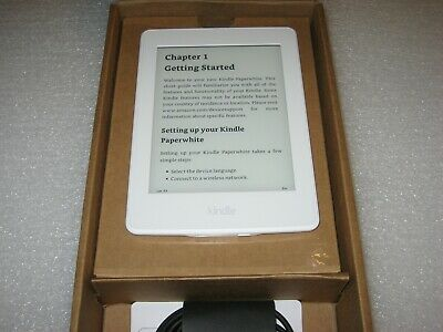 Amazon Kindle Paperwhite 7th Generation, Wi-Fi, 6in 300 ppi, 4GB, White DP75SD1