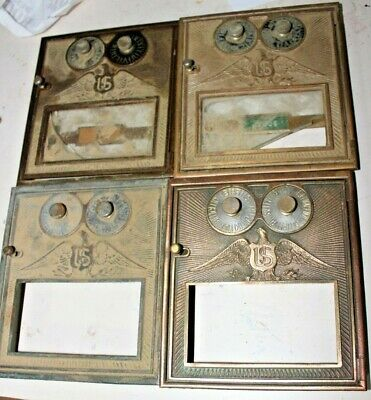 Vintage  Post Office box doors 4 Medium Flying eagle Eagle doors    6 a