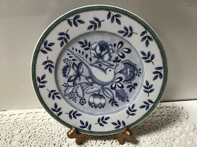 Villeroy & Boch SWITCH-3 CORDOBA 1 SALAD PLATE Green Rim - Blue Bird Center