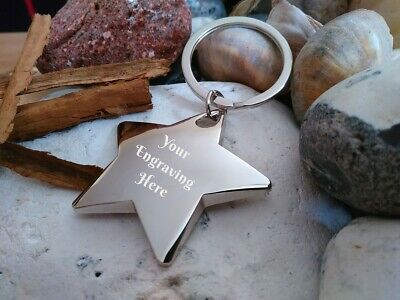 Personalised Star Keyring Christmas Birthday Dad Grandma Mum Grandad sister Gift